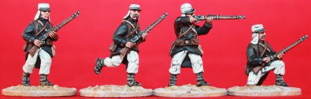 28mm miniature French Foreign Legion figures from the Beau Geste (1870-1910) period