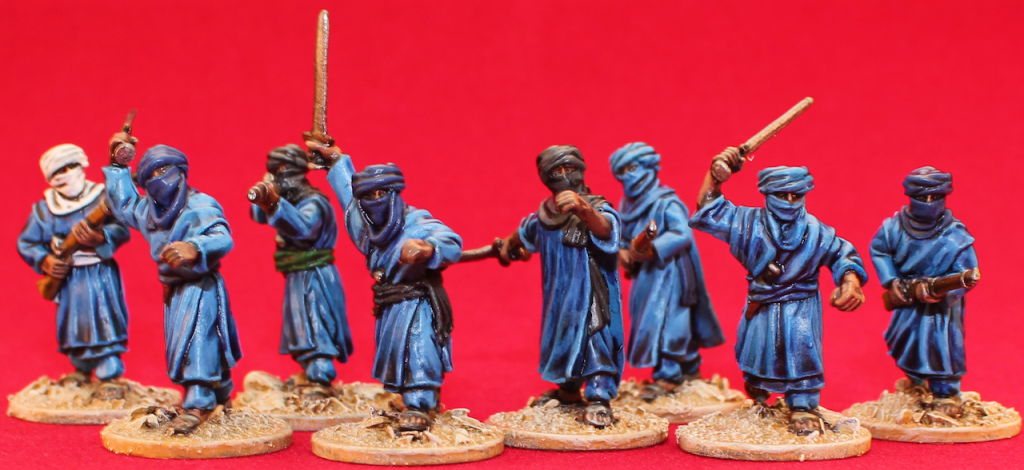 Tuareg Berbers from the Exotic Adventures range of 28mm (1\56) miniatures (Packs: TA1, TA2 & TA3)