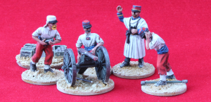28mm French Foreign Legion , 80mm De Bange gun and crew