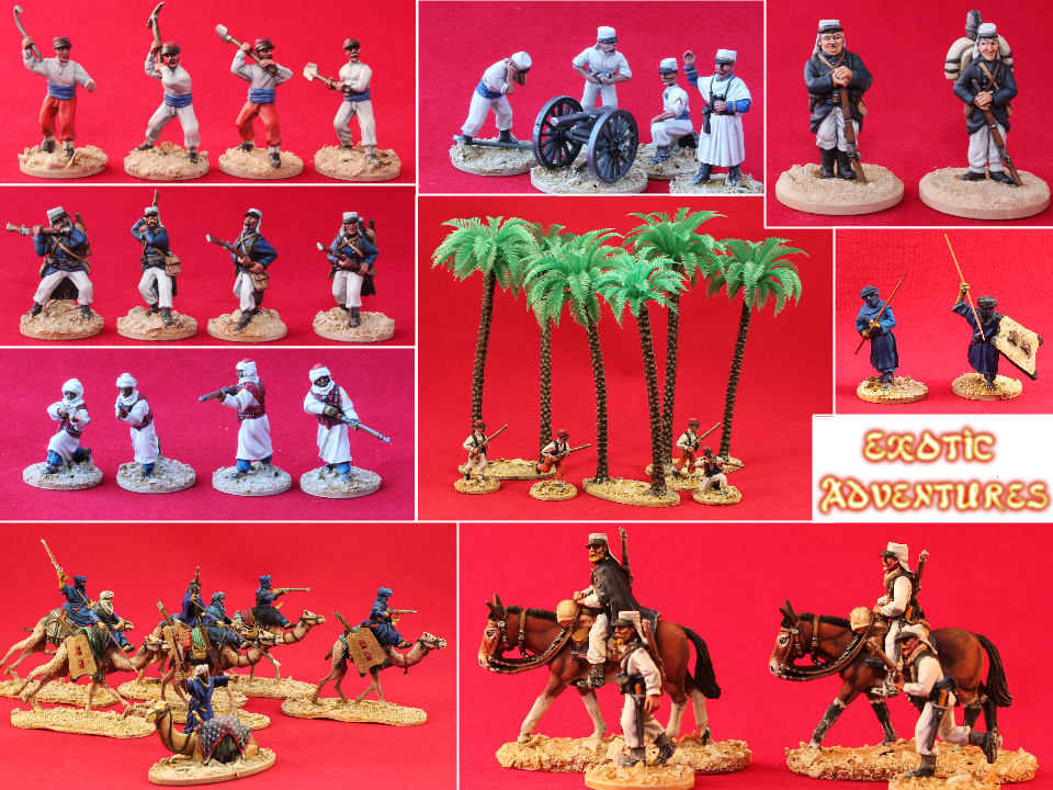 Unfeasibly Miniatures, Exotic Adventures, 28mm French Foreign Legion miniatures, 28mm Tuareg miniatures