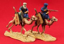 Unfeasibly Miniatures - Mounted Tuareg on camels, 2 variants , 28mm Tuareg miniatures (1/56 true scale). Cast in white metal and supplied unpainted.