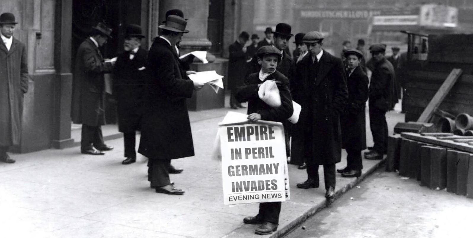 Empire in Peril - newsboy