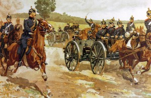 Prussian-artillery-on-manoeuvres-1905-by-Becker