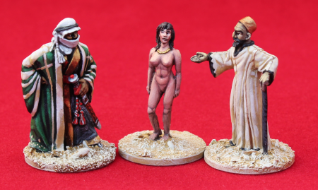 The Slave Market, 28mm miniatures, French Foreign Legion , Unfeasibly Miniatures, Exotic Adventures
